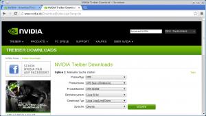 nVidia-Treiberauswahl