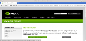 nVidia-Treiberdownload