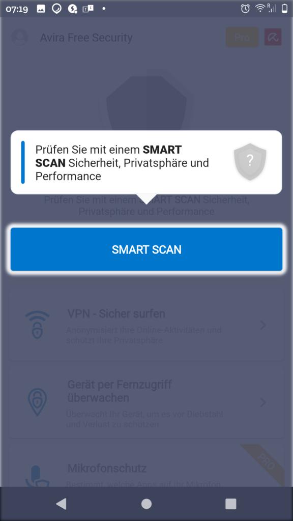 Vorschlag Smart Scan durchzuführen