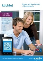 klickTel Telefon- und Branchenbuch Herbst 2017