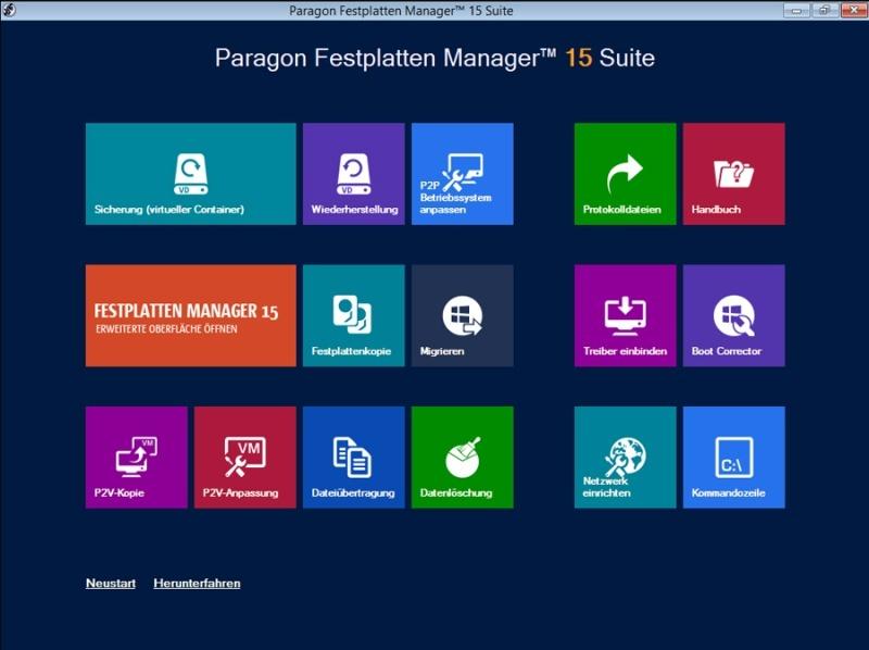 Festplatten Manager 15 Suite