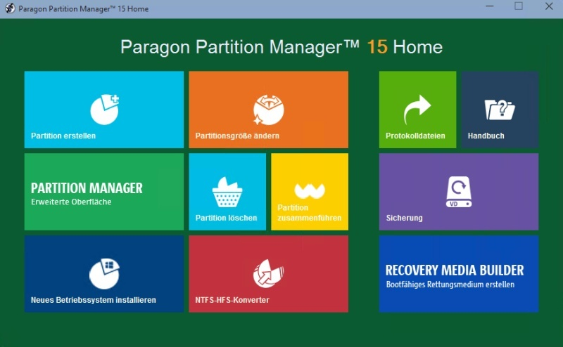 Partition Manager 15 Home